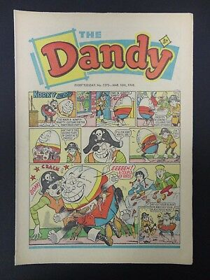 Dandy Comic No. 1373,March 16th 1968,Easter, 50th Birthday Present/Gift,VG+ Copy