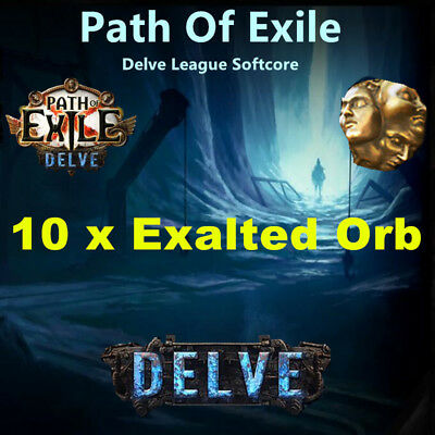 10 x Exalted Orb | Path Of Exile POE | Currency - Delve League Softcore SC EU&NA