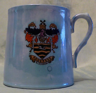Carlton China Lustre crested mug tankard Unusual Small Blackpool Heraldic