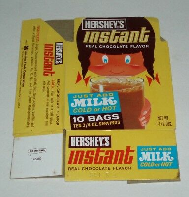 1970's Hershey's Instant Chocolate box - hot cocoa - product box
