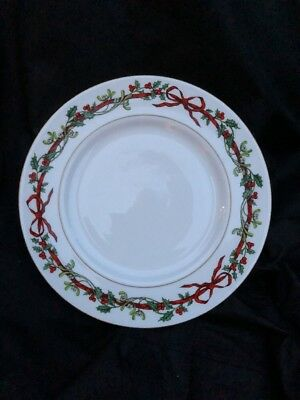 """Royal Worcester-Holly Ribbons- 10.5"""" Dinner Plate"""