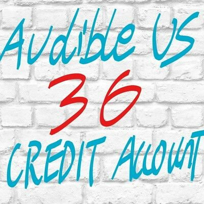 Quick Delivery Audible US account with 36 credits ready to use