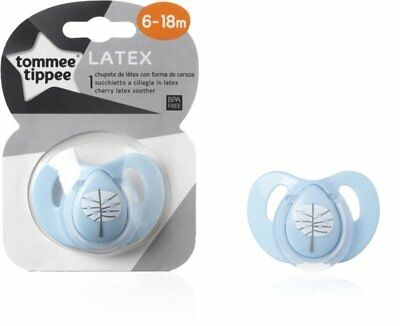 ORIGINAL Tommee Tippee Decorated Blue Cherry Soother Pacifier Dummy 6-18m