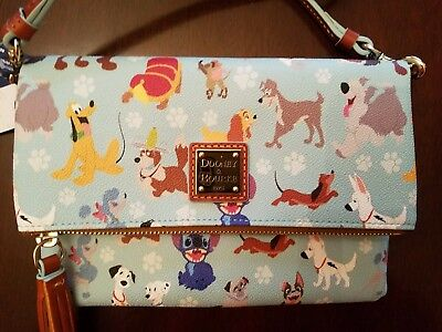 DISNEY DOGS DOONEY AND BOURKE Foldover Crossbody Purse, bag, handbag NWT