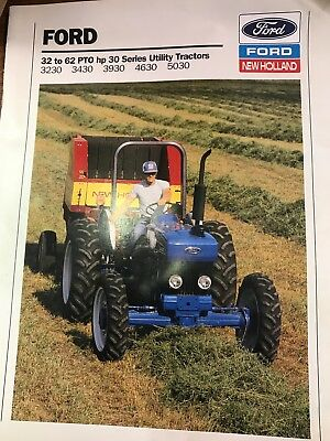 Ford 30 Series Tractor Sales Booklet