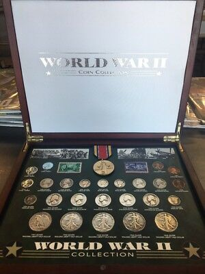 WW2 commemorative coin collection medal-coins and stamps from world war 2 B28