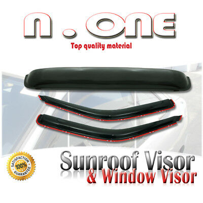 Side Window + Sunroof Visor Vent Shade Combo Roof Mount 3Pcs 94-09 Mazda Pickkup