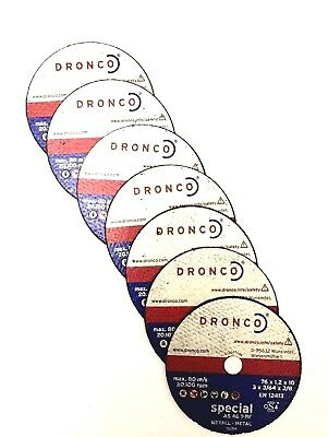 DRONCO Mini Cut Disc (Pack of 7) 76x1.2x10mm To fit Bosch Mini Angle Grinder