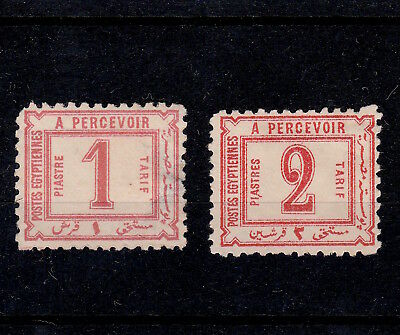 Egypt 1886 Pair Of Postage Due Stamps Mint ( 1 & 2 Piastres)