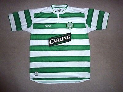 (faulty) adult:L  Glasgow CELTIC FC football shirt 2003 Home Top Soccer Jersey