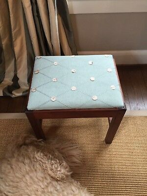 Authentic Eldred Wheeler Cherry Chippendale Stool, with drop seat
