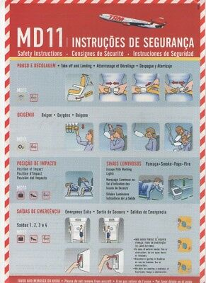 T A M   AIRLINES        MD11      Safety  Card