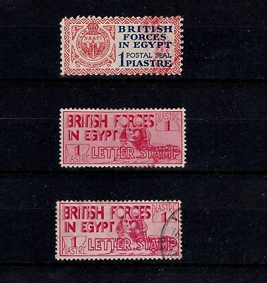 EGYPT 1930s BRITISH ARMY POSTAL SEAL & LETTER STAMPS