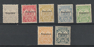 Swaziland 1889 overprint set till 5 sh. MNH catv $535, no guarantee Stamps need
