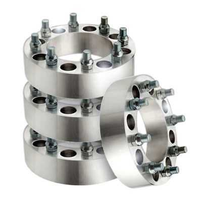 Front and Rear Set of Two Wheel Spacers fits Chevrolet, GMC, Hummer, Ram