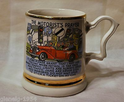 Motorist's Prayer Prince William Ware 22 Carat Gold England Royalty Mug RARE