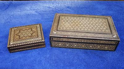 Two Antique Anglo Indian Cigar, Cigarette Boxes & Fortnum Masons Foil Wrapping
