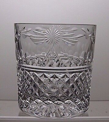 """Stuart Crystal """"beaconsfield"""" Cut Glass Whisky Tumbler - Signed - 3 1/2"""" Tall"""