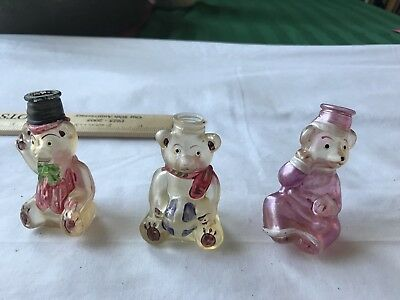 Vintage Hand Painted Christmas Bottles