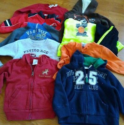 Lot of 10 Infant Toddler Boys Size 18 24Month Long Sleeve Sweatshirt Pant Mixed
