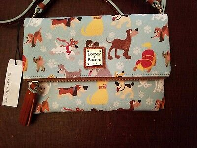 Disney Dogs Dooney and Bourke Foldover Crossbody Bag