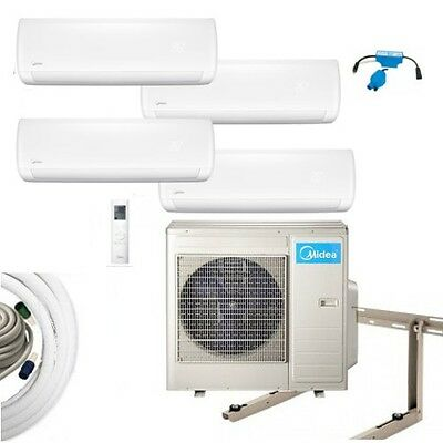 Air Conditioning Complete Set Multi Split Midea Wall Devices 4x2, 6kW