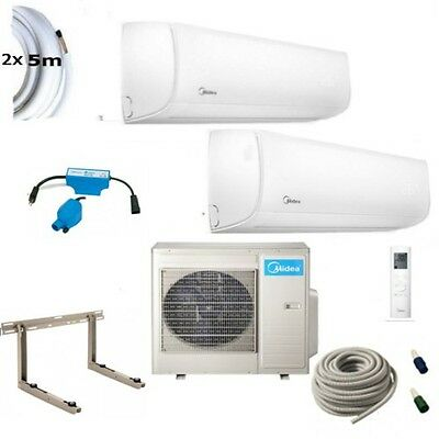 Air Conditioning Complete Set Multi Split Midea Wall Devices 2x7, 0KW