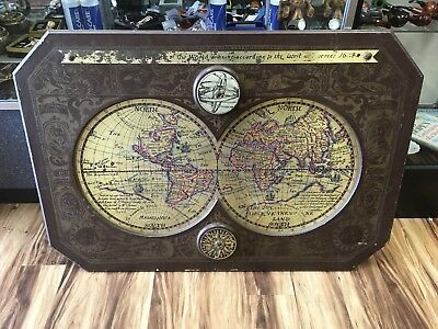 A New And Accurate Map Of The World 1628.Masketeers Old World Brass Map A New And Accurate Mappe Of The