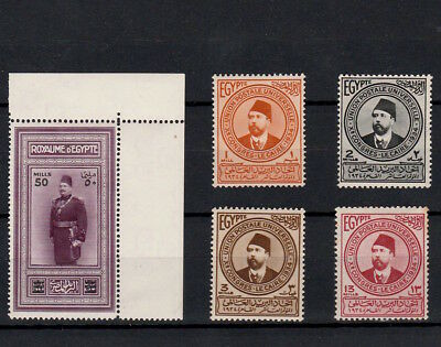 EGYPT 1930s KING FUAD BIRTHDAY AND ISMAIL PASHA UPU STAMPS MINT