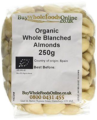 Buy Whole Foods Organic Whole Blanched Almonds 250 g