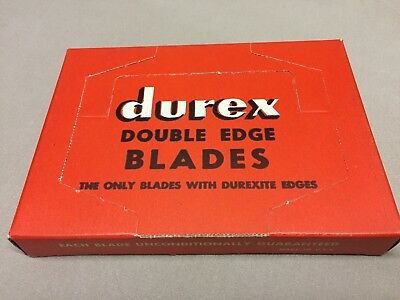 1950s Durex Double Edge Razor Blades Counter Full Display Pack 20 5-Packs