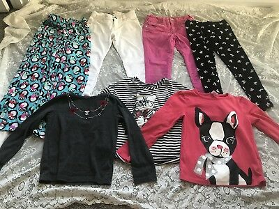 Girls Size 7 And 7/8 Clothing Lot Jeans And Long Sleeve Shirts Justice Gap