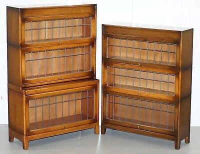 Pair Of Dwarf Oak Gunn Stacking Legal Library Solicitors Bookcases Model Angus