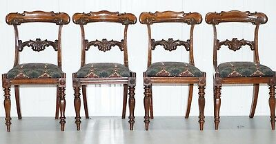 Set Of Four Liberty's Of London Regency / Early Victorian Rosewood Dining Chairs