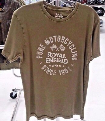 Royal Enfield Pure Motorcycling T-Shirt Od Crew Olive And Grey