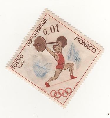 MONACO 1964 Olympic Games, Tokyo - 1c WEIGHTLIFTING -  MINT MM MH