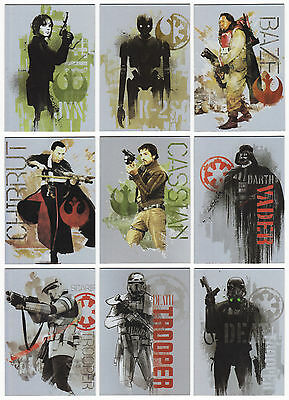 2016 Topps Star Wars Rogue One Mission Briefing 189 Trading Card Master Set