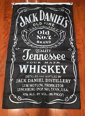 Jack Daniels Whiskey bar flag banner decoration Decor 3x5FT Long Vertical