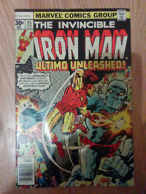 Iron Man Vol 1 #95 (1977) Goodwin Kirby Conway Tuska VF Combined P&P Available