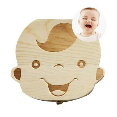 Baby Tooth Box First Curl Haircut Keepsake Fairy Wooden Personalized Holder...