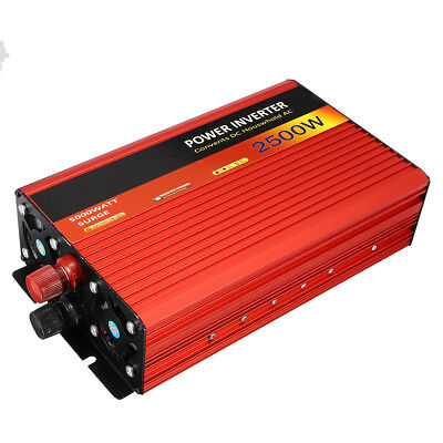 2500W DC 12V to AC 220V Power Modified Sine Wave Inverter Converter Charger