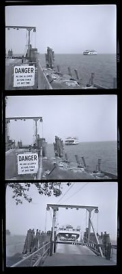 Lot of 3! Ferry On LAKE CHAMPLAIN NY VT New York Vermont Photo Negatives 29