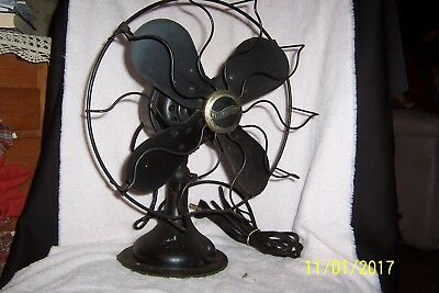 Old WESTINGHOUSE Style #315745A Oscillating BRASS or MICARTA Bladed Electric Fan