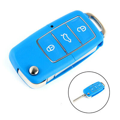 3-Button Flip Folding Key Shell for VW POLO GOLF Remote Key Fob Case Replacement