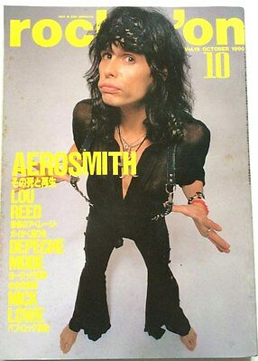 rockin'on Japan Music Magazine 10/1990 Aerosmith Depeche Mode Madonna Lou Reed