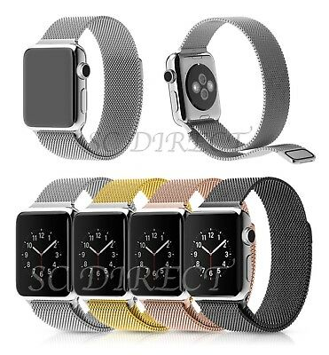 Milanese Stainless Steel Watch Strap Magnetic Loop Bands FOR Apple Watch 38 42mm