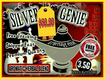 Silver Genie Organic Herbal Natural Scented Aromatherapy Blend Pine 3.5G