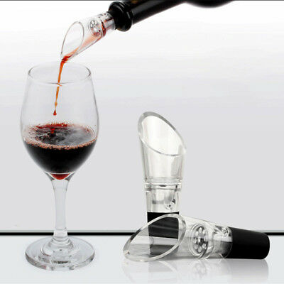 2Pcs Stainless Steel Red Wine Aerator Pour Spout Bottle Pourer Aerating Decanter