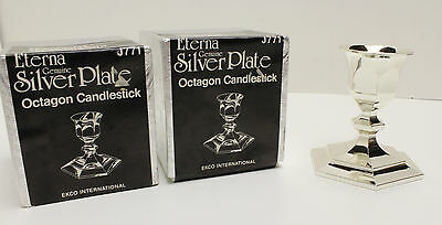 Vintage Silver Plated Candlestick Holder - Pair of 2 - NEW in Box Made in Japan