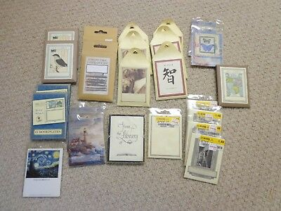 bookplates.a miscellaneous collection of 24 packs - NEW